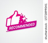 recommended logo bagde with... | Shutterstock .eps vector #1572899041