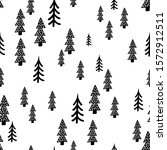 fir scandinavian hand drawn... | Shutterstock .eps vector #1572912511