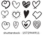 collection set of hand drawn... | Shutterstock .eps vector #1572944911