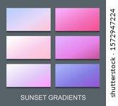 vector set of gradients in... | Shutterstock .eps vector #1572947224