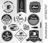 beer set lager vintage labels | Shutterstock .eps vector #157302767