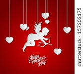 holiday frame happy valentines... | Shutterstock .eps vector #157303175