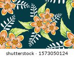 seamless pattern with floral...   Shutterstock .eps vector #1573050124