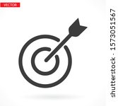 target with an arrow flat icon...   Shutterstock .eps vector #1573051567