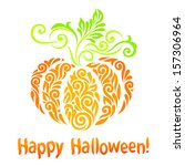 vector happy halloween... | Shutterstock .eps vector #157306964