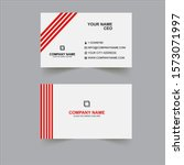creative new business card... | Shutterstock . vector #1573071997