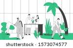gardeners and scientists... | Shutterstock .eps vector #1573074577