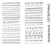 hand drawn vector line border... | Shutterstock .eps vector #1573074961