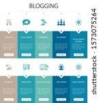 blogging infographic 10 option...