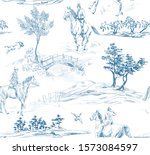 Pattern With Landscape With...