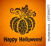 vector happy halloween... | Shutterstock .eps vector #157309577
