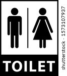 toilet sign. man and woman... | Shutterstock .eps vector #1573107937