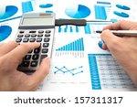 business graph analysis report. ... | Shutterstock . vector #157311317