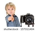 Little Boy With Camera On...