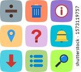 set of 9 basic elements icons...