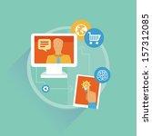 vector freelance work progress  ... | Shutterstock .eps vector #157312085