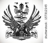 rock n roll symbol  | Shutterstock .eps vector #157312145