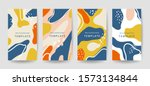 creative hard paint cover... | Shutterstock .eps vector #1573134844