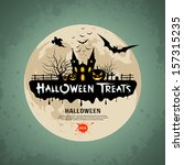 halloween treats message design ... | Shutterstock .eps vector #157315235