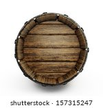Old Wooden Barrel Isolated On A ...