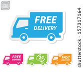 vector free delivery  free... | Shutterstock .eps vector #157317164