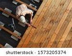 Constructing A Wooden Flooring...