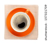 Orange Coffee Cup Over Kitchen...