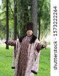 Small photo of Welcome, Russian Tsar in Uglich is posing in sublime pose