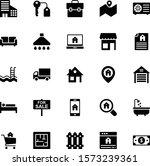25 real estate gylph icon set 01   Shutterstock .eps vector #1573239361