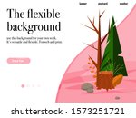 modern landing page with nature ...