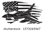 military plane fired a missile. ...   Shutterstock .eps vector #1573265467