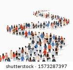 crowd of buisness people... | Shutterstock .eps vector #1573287397