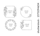 collection of hand drawn floral ...   Shutterstock .eps vector #1573294654