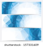 set of abstract geometric... | Shutterstock .eps vector #157331609