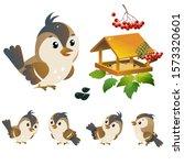 Sparrow. Color Image Of Cartoon ...