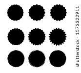 set of starburst badges icon.... | Shutterstock .eps vector #1573322911