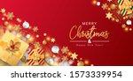 merry christmas banner vector.... | Shutterstock .eps vector #1573339954