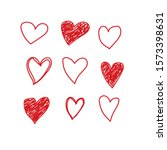 vector hearts set. different... | Shutterstock .eps vector #1573398631