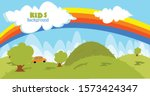 this is kids background like... | Shutterstock .eps vector #1573424347
