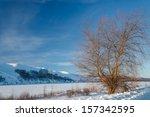 Winter Landscape On The Banks...