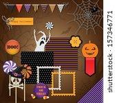 collection of halloween design...   Shutterstock .eps vector #157346771