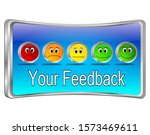 your feedback button   3d... | Shutterstock . vector #1573469611