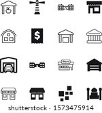 building vector icon set such... | Shutterstock .eps vector #1573475914