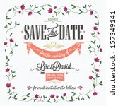 save the date  wedding... | Shutterstock .eps vector #157349141