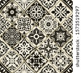 seamless patchwork tile with... | Shutterstock .eps vector #1573519297