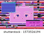 abstract futuristic background...   Shutterstock .eps vector #1573526194