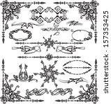 vector set calligraphic design... | Shutterstock .eps vector #157353425