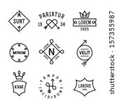 vintage hipster labels with... | Shutterstock .eps vector #157355987