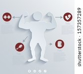 vector muscled body background. ...