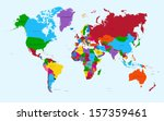 colorful world map countries... | Shutterstock .eps vector #157359461